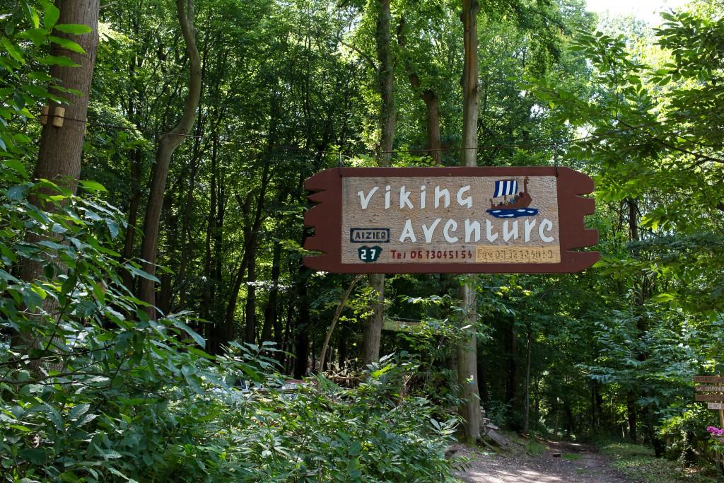 Panneau du Viking Aventure