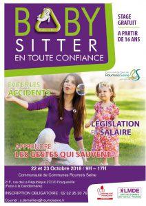 Affiche stage baby sitter amfreville