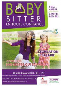 Affiche stage baby sitter quillebeuf