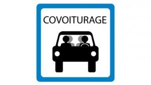 Panneau du parking covoiturage
